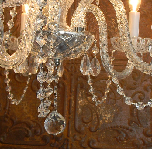 chandeliere & tin | by Chic Antiques
