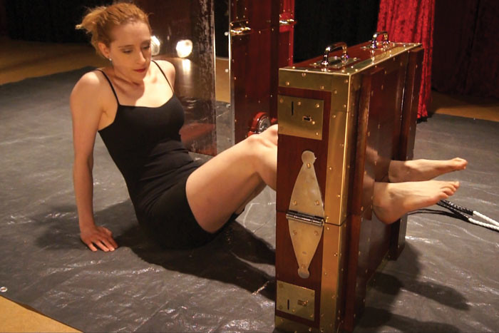 Restrained female Alyssa Lynn endures tits torture and and being hung № 1218949  скачать