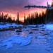 Sunrise over Frozen Dream Lake