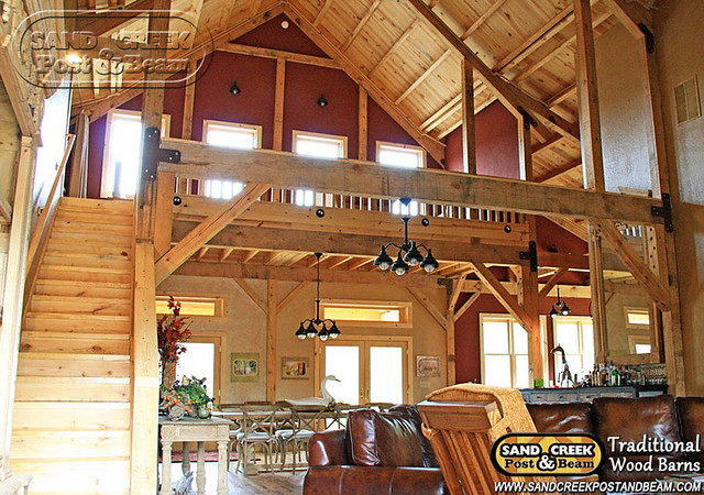 Barn Home Loft Living Sand Creek Post Beam