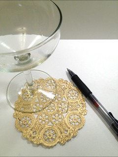 03 Gilded Lace Champagne Glasses | by fabricpaperglue