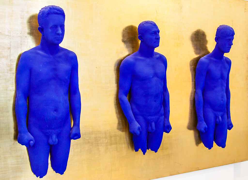 Blue Man Body Paint