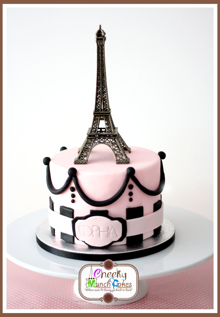 Cake Images With Name Pari : 13 - Paris Cake Sophia s 5th Month Paris themed cake You ...