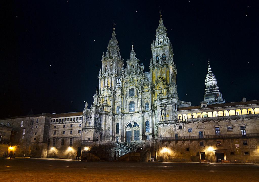 Catedral de santiago de compostela por la noche a mi - Arrokabe arquitectos santiago de compostela ...