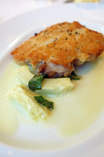 Parmesan Crusted Confit Leg Of Chicken Artichoke Basil