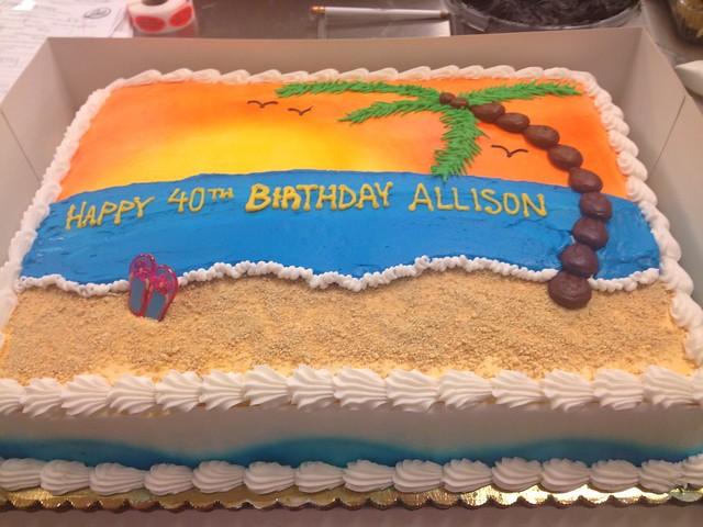 Cake Decorating Garden Scene : Beach Scene Birthday Cake Flickr - Photo Sharing!