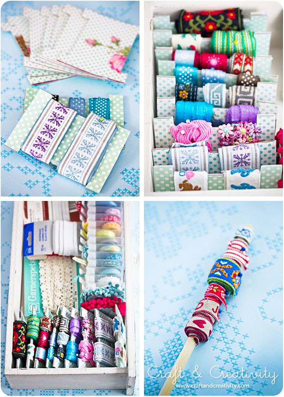 Organizing trims and ribbons organizing trims and for Craft ribbons and trims
