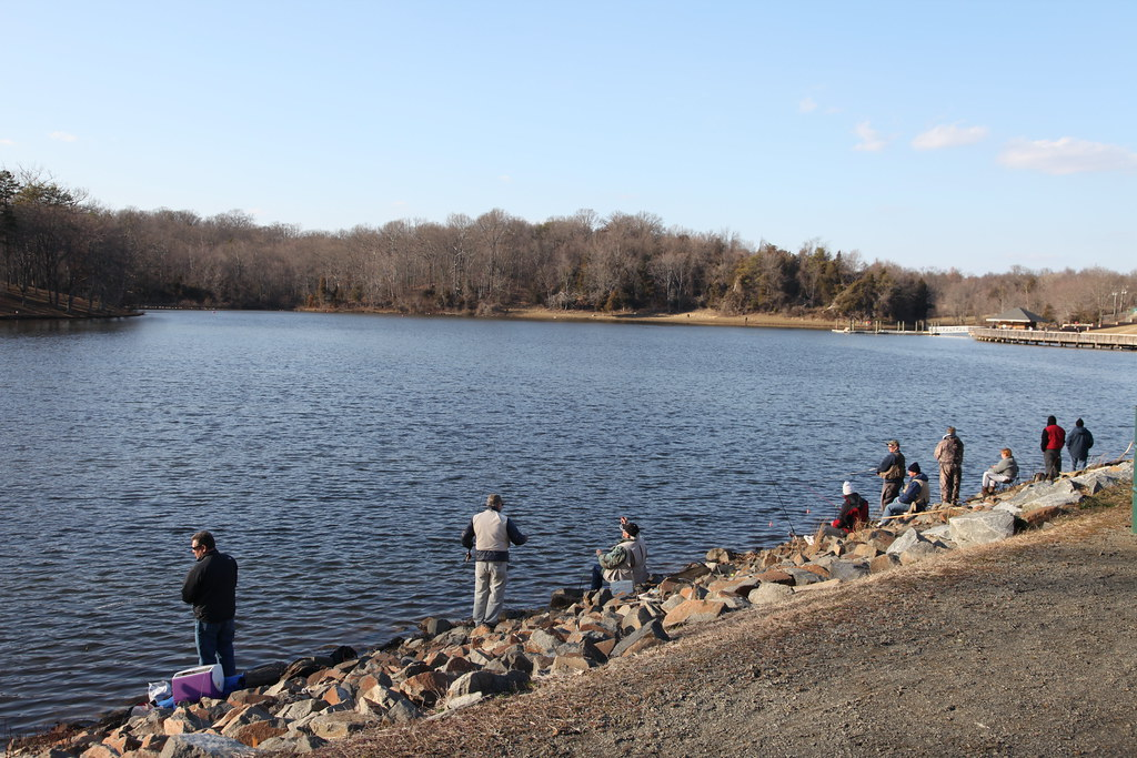 Img 0964 canon 5dii lake fairfax trout fishing season flickr for Trout fishing season