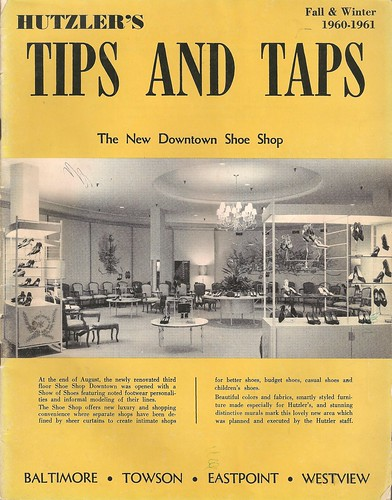 Hutzler's Tips and Taps Fall & Winter 1960 - 1961