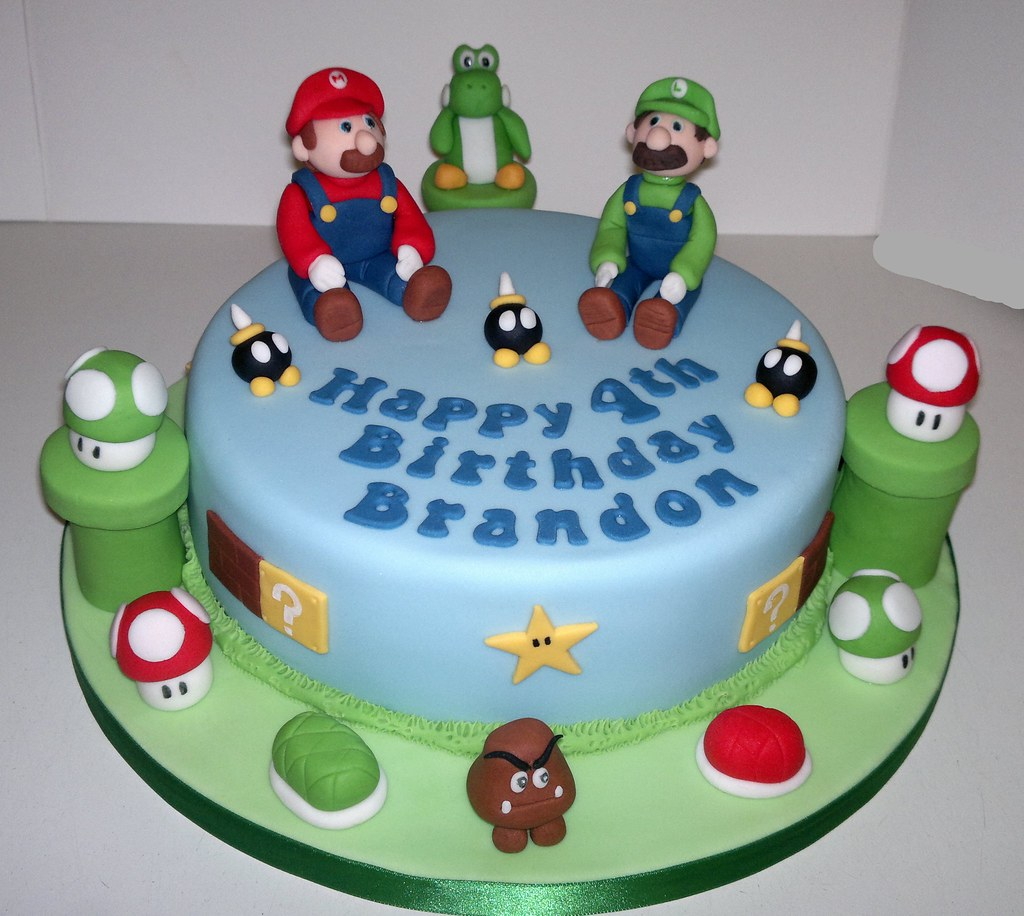 mario and luigi birthday cake liz flickr. Black Bedroom Furniture Sets. Home Design Ideas