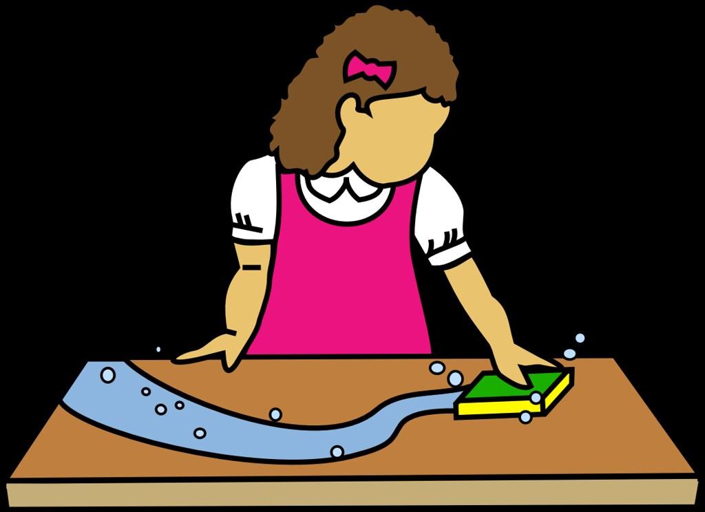 Girl Wiping Table Clip Art Style Graphic Digitally Rende Kelona Hamilton Flickr