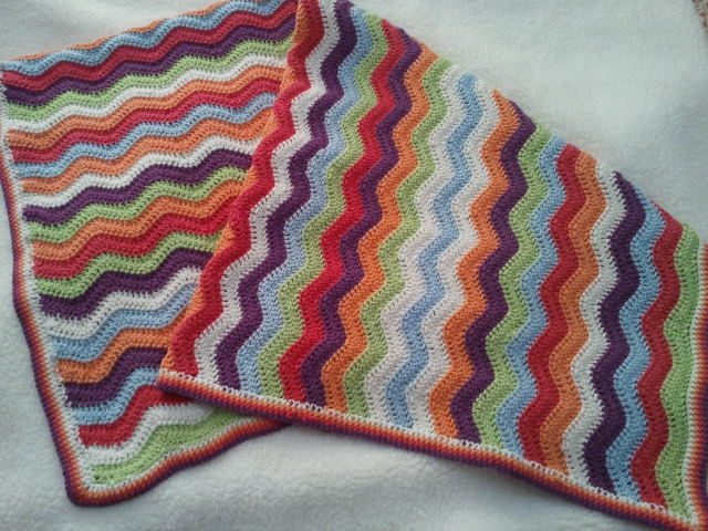 Crochet Ripple Cot Crib Baby Afghan Blanket Another