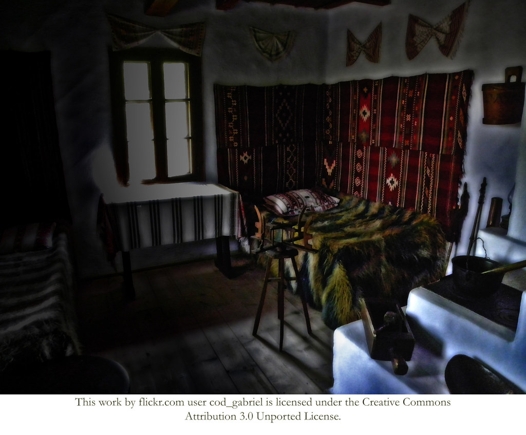 Inside peasant house in the romanian village museum in buc flickr - Romanian peasant houses ...