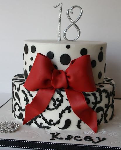 Black And White 18th Birthday Cake This Was My First