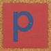 Cardboard blue letter p