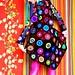 Abstact Pop Art Crochet Cardigan