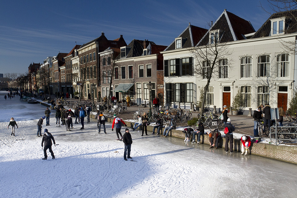 Winter Streets In Leiden Netherlands Netherlands Leiden Flickr