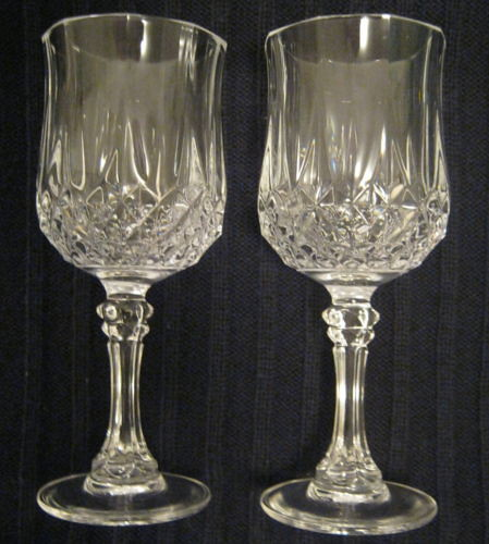 crystal wine glasses wine glasses vintage set of two beautiful 30002