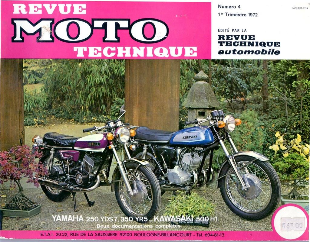 revue moto technique n 4 yamaha ds7 yr5 kawasaki 500h1 flickr. Black Bedroom Furniture Sets. Home Design Ideas