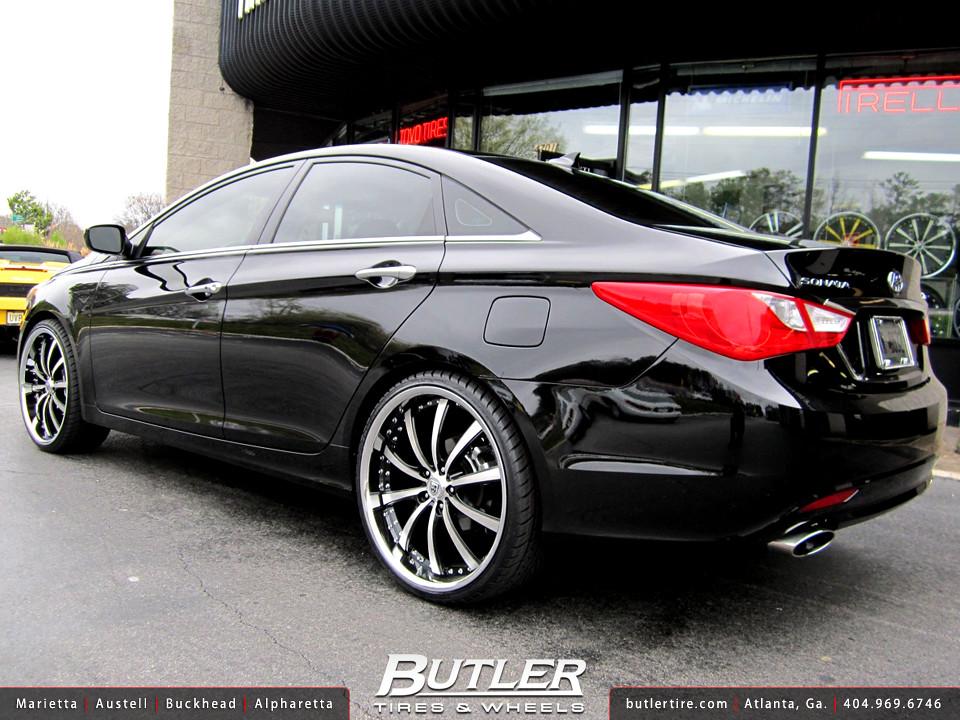 Hyundai Veloster Tires >> Hyundai Sonata with 22in Lexani LSS10 Wheels | Additional ...