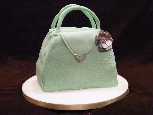 Shopping Bag Fondant Topper Small Cake