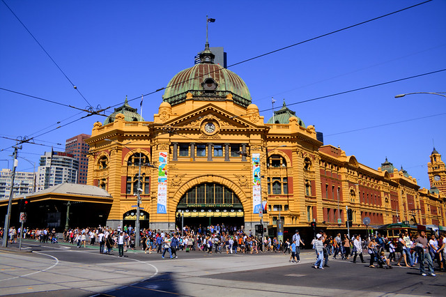 flinders street station melbourne cbd flickr photo. Black Bedroom Furniture Sets. Home Design Ideas
