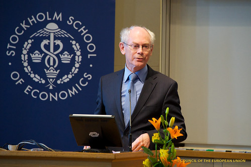 President Van Rompuy speaking during his speech at the Stockholm School of Economics, 4 May 2012 | by President of the European Council