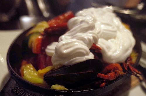 IBIZAの泡パ!オマール海老と野菜の蒸し鍋 アサリのエスプーマ