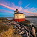 Coquille River Lighthouse Vertical