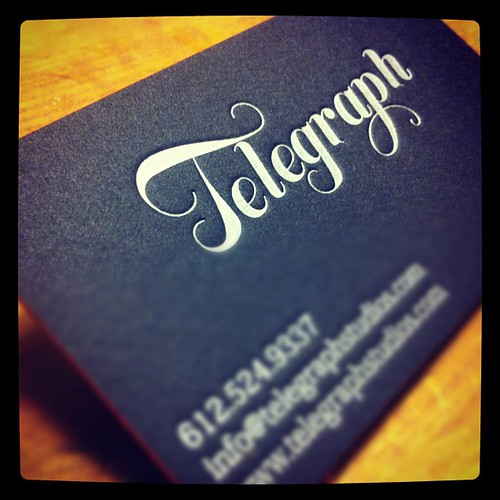 Black #letterpress business card designed with gorgeous typography | by ElegantePress