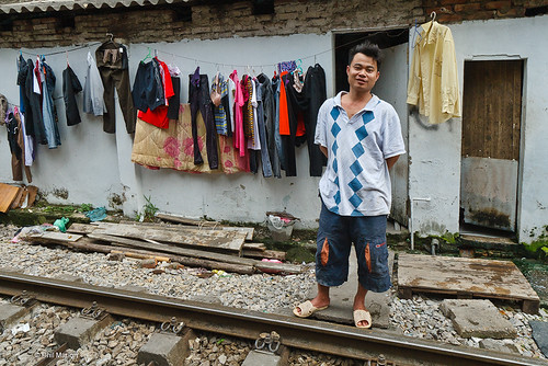 He lives 5 feet from the train tracks - Hanoi | by Phil Marion (50 million views - thanks)