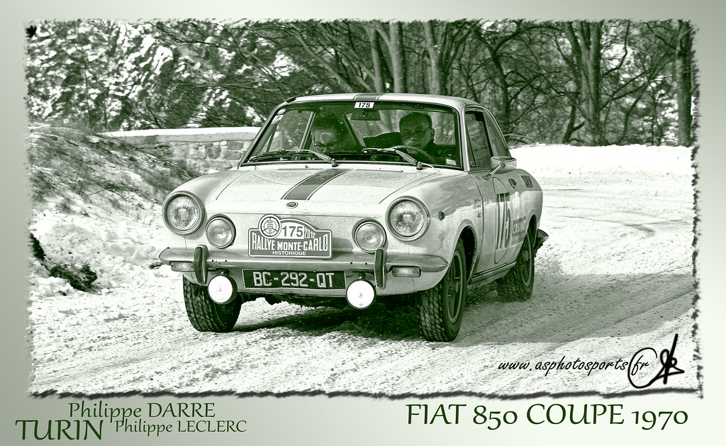 rallye monte carlo historique 2012 fiat 850 coupe 1978 flickr. Black Bedroom Furniture Sets. Home Design Ideas