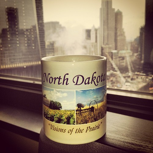 Smoke from the construction site at Ground Zero emitting from my North Dakota coffee cup. | by fimoculous