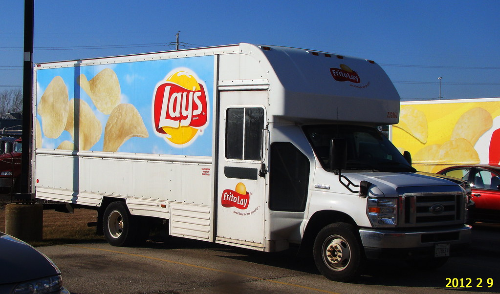 Frito Lay Ford Deliverey Truck Riding In Back Of The