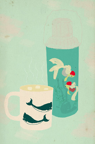 thermos illustration | by ashleyg