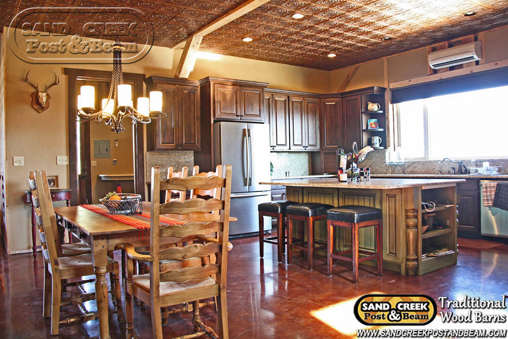 Kitchen Interior Home Sand Creek Post Amp Beam Tradition