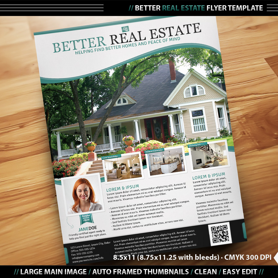 Better Real Estate Flyer Template | Clean, professional, rea… | Flickr