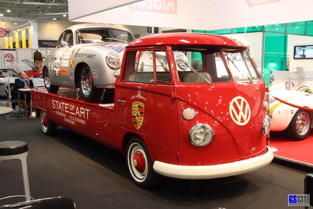 Motor World Car Factory >> Porsche 356 A on a Volkswagen Bulli T1 | Visit my Facebook ...