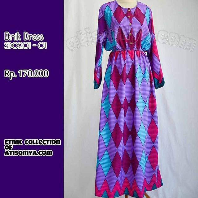 Lengan Baju Dress Etnik