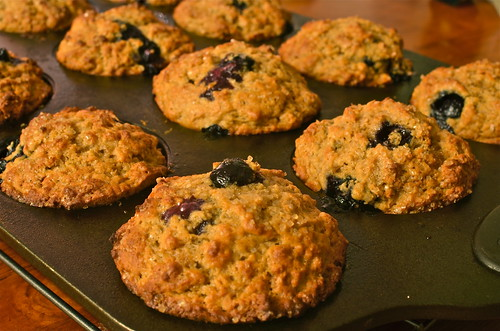 100% Whole Wheat Blueberry Muffins | by pateachew