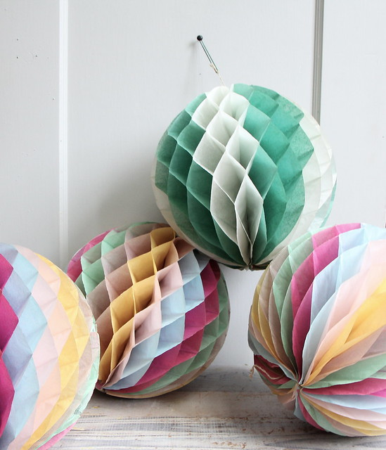 Vintage crepe paper decorations flickr photo sharing for Decor using crepe paper