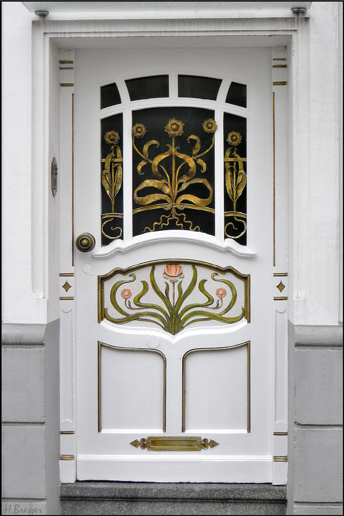 jugendstil haust r art deco front door jugendstil. Black Bedroom Furniture Sets. Home Design Ideas