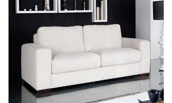 Sof tapizado en blanco sof tapizado en piel blanca de for Muebles sanchez granada