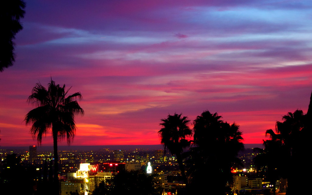 Hollywood Hills Sunset Hollywood Sunset   Hol...