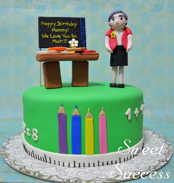 Birthday Cake Teacher With Name