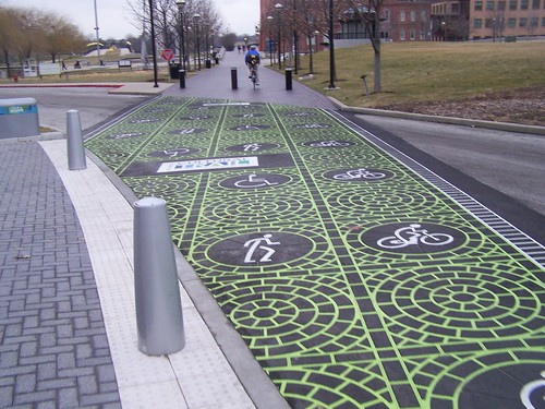 Street crossing, Indianapolis Cultural Trail