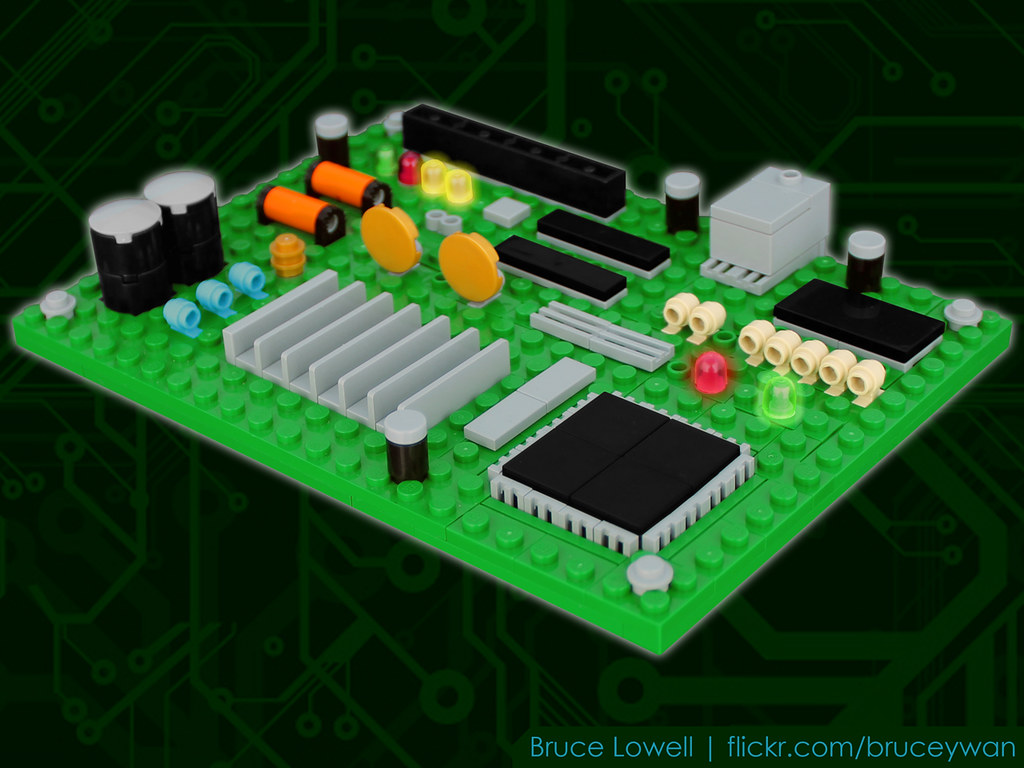 LEGO Circuit Board | I work with these, so why not build one… | Flickr