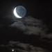 Conjunction and Earthshine
