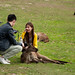 Couple Feeding Kangaroo