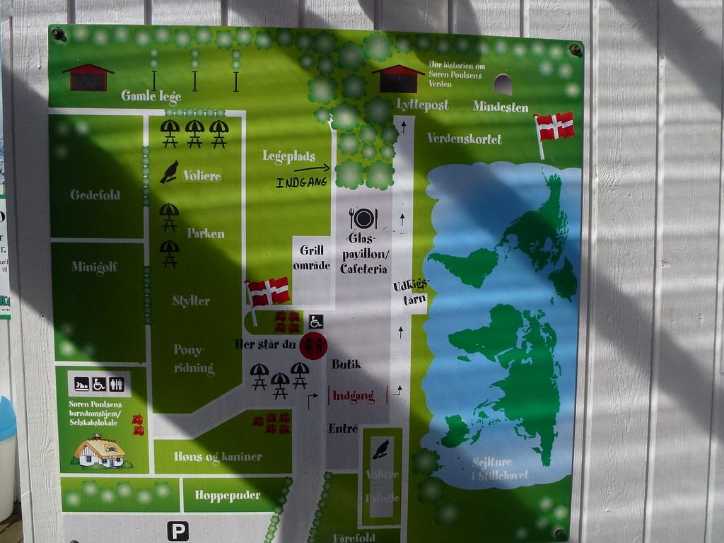 World map in klejtrup lake denmark verdenskortetho flickr gumiabroncs Choice Image